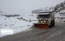 بارش سنگین برف در جادههای مازندران