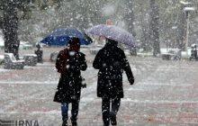 برف و باران در راه مازندران
