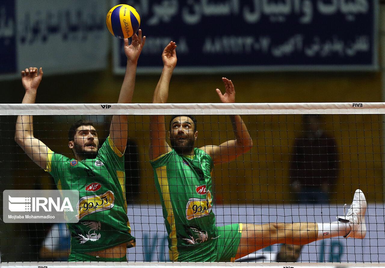 دیدار تیم های والیبال سایپا تهران و کاله مازندران