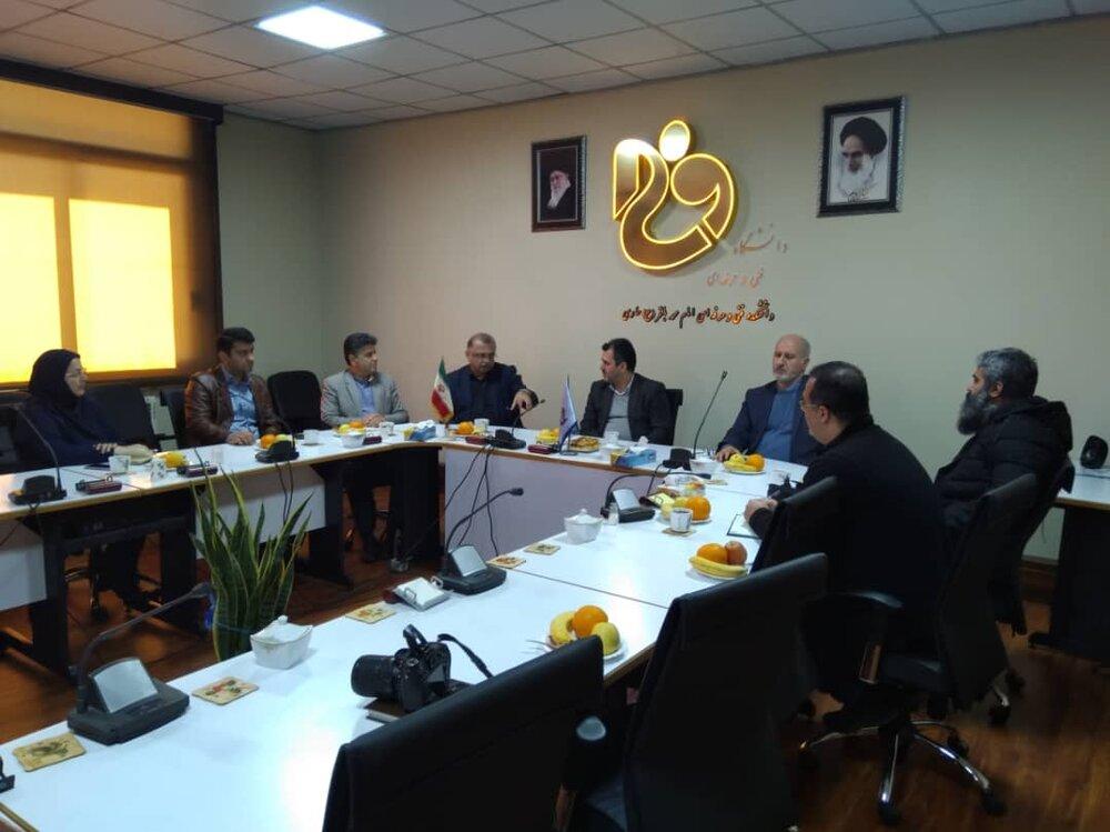 برگزاری نشست همکاری دبیرخانه رویداد ساری 2022 و دانشگاه فنی امام محمد باقر ساری