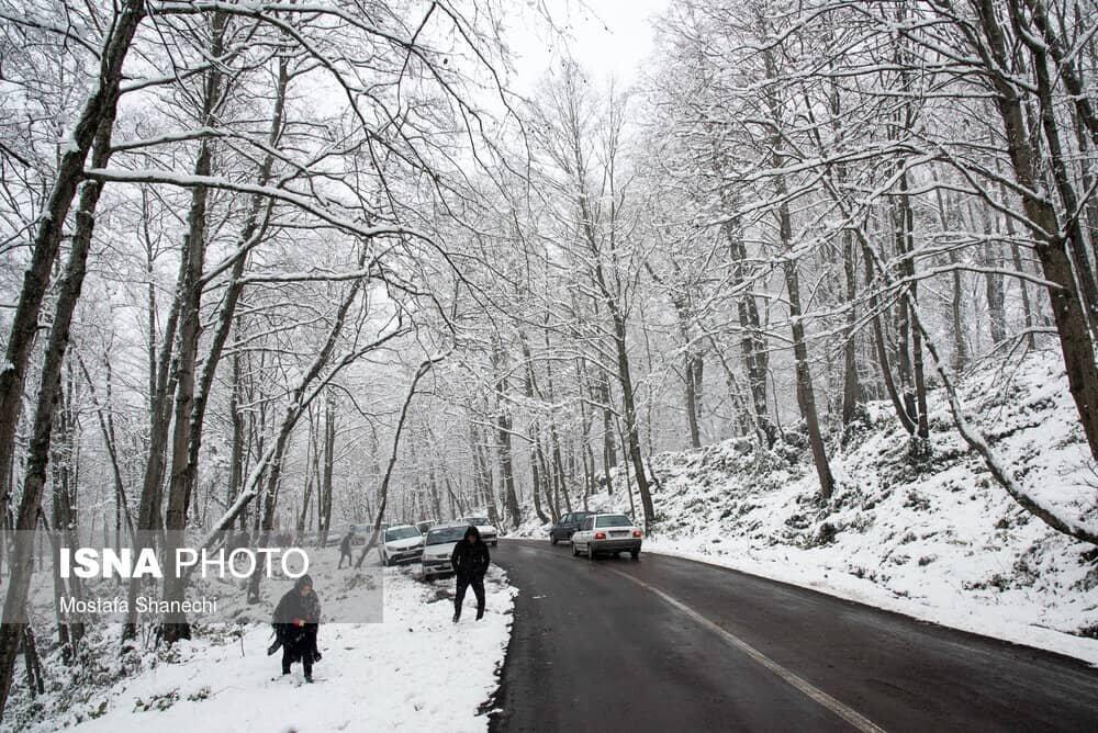 طبیعت برفی و زیبای پاسند بهشهر در مازندران