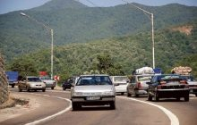 ترافیک محورهای مازندران نیمه سنگین است
