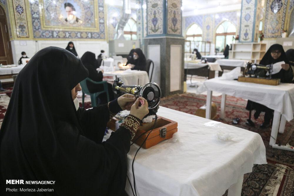 کارگاه تولید ماسک بهداشتی در ساری افتتاح شد