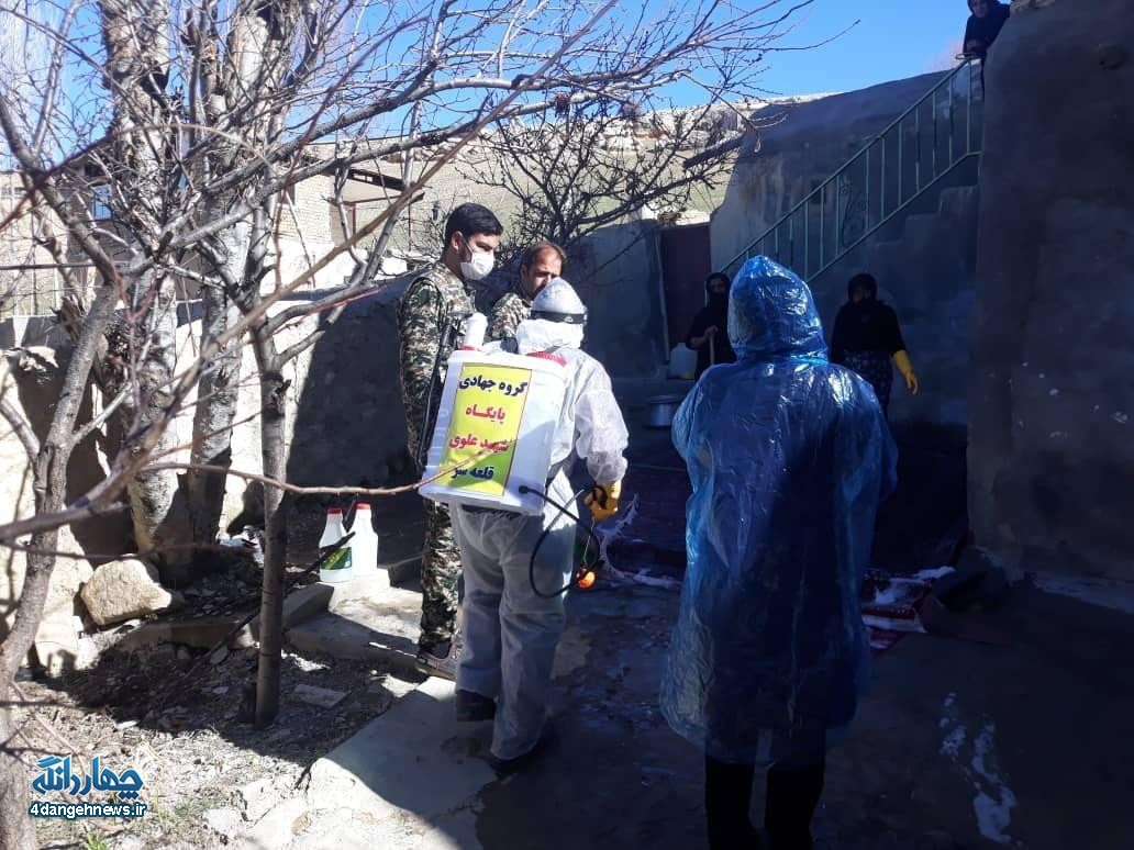 تلاش همه جانبه مردم چهاردانگه برای پیشگیری از شیوع ویروس کرونا