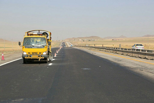 عملیات خط کشی در ۷۰ کیلومتر از راههای مازندران اجرا شد