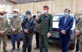 گزارش تصویری از رزمایش دفاع بیولوژیک سپاه چهاردانگه در شهر کیاسر