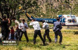 گزارش تصویری از نجات گردشگر اصفهانی در چهاردانگه