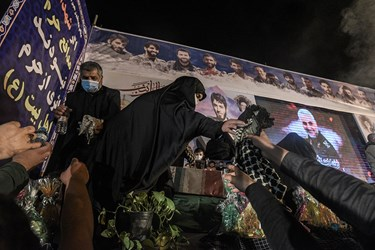 وداع با پیکر مطهر شهیدان مدافع حرم کمالی و جمشیدی در ساری
