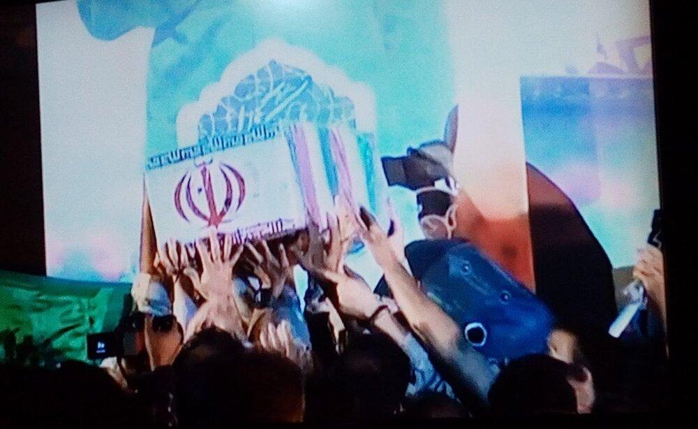 پیکر مطهر شهید مدافع حرم در ساری تشییع شد