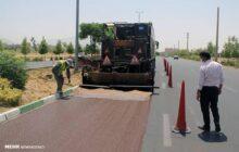 فاز اول پروژه آسفالت حفاظتی در مازندران اجر شد