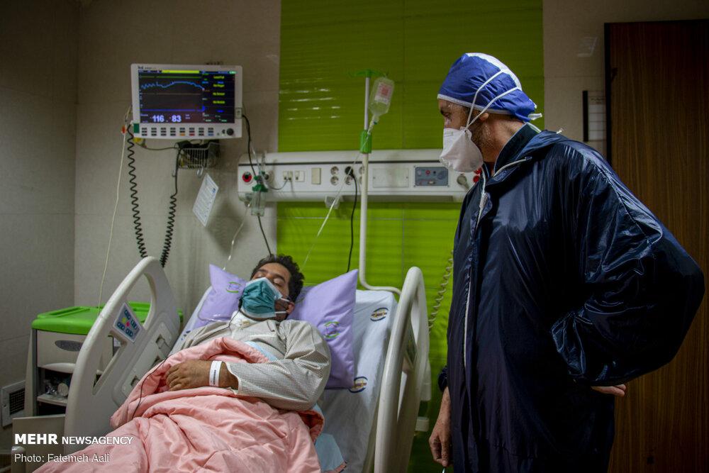 ۱۸۲۵ بیمار کرونایی در مازندران بستری هستند