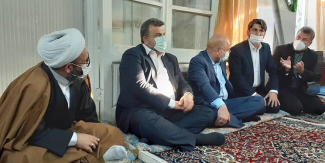 حضور قالیباف در منزل مرحوم آیتالله روحانی نماینده اسبق ولی فقیه در مازندران