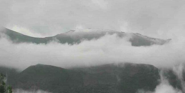 بارش نخستین برف پاییزی در ارتفاعات کجور