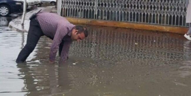 آبگرفتگی و کدر شدن آب چاشنی بارندگی در بابلسر