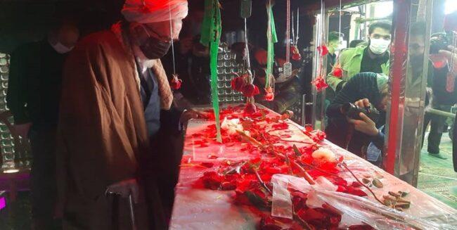 گلباران تابوت فرمانده/ میزبانی شهدای گمنام از شهید بلباسی+فیلم و عکس