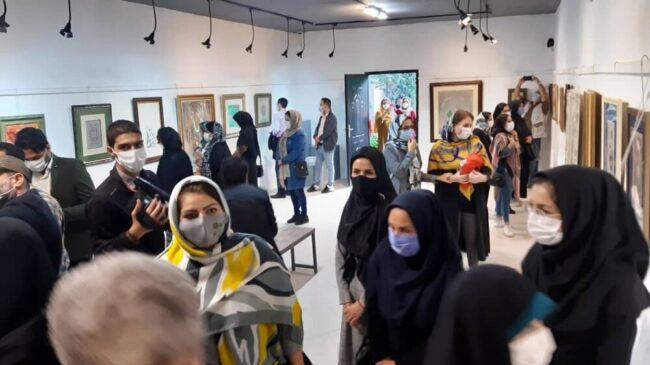 دومین نمایشگاه نگارگری عاشورایی مازندران افتتاح شد
