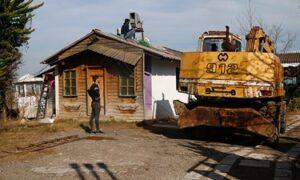 تخريب بنای ساحلی غیرمجاز در سلمانشهر