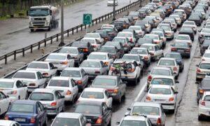 ترافیک پرحجم در مسیر خروجی شمال/ محور کندوان لغزنده است