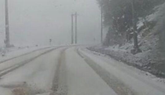 بارش برف و باران در آسمان مازندران