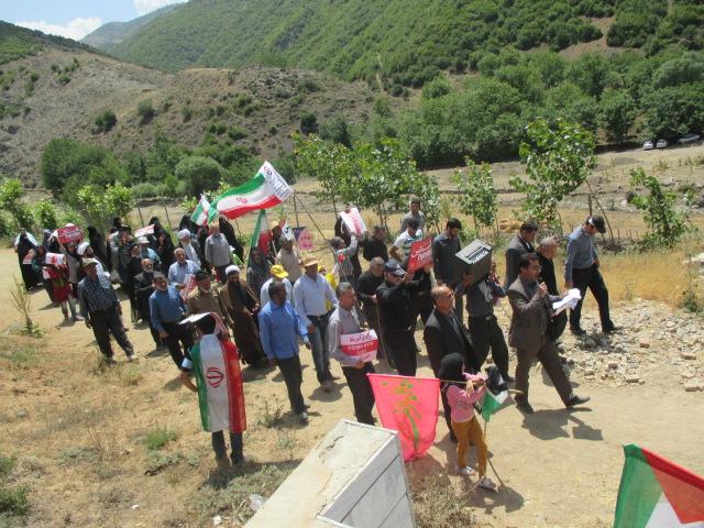 گزارش تصویری از راهپیمایی روز قدس در منطقه دوسرشمار