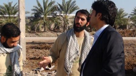 حضور محمد دامادی در شلمچه + گزارش تصویری