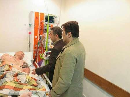 نماینده وزیر بهداشت از پدرایران شناسی دربیمارستان مازندران عیادت کرد