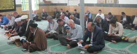 مراسم پر فیض دعای عرفه در  کیاسر برگزار شد