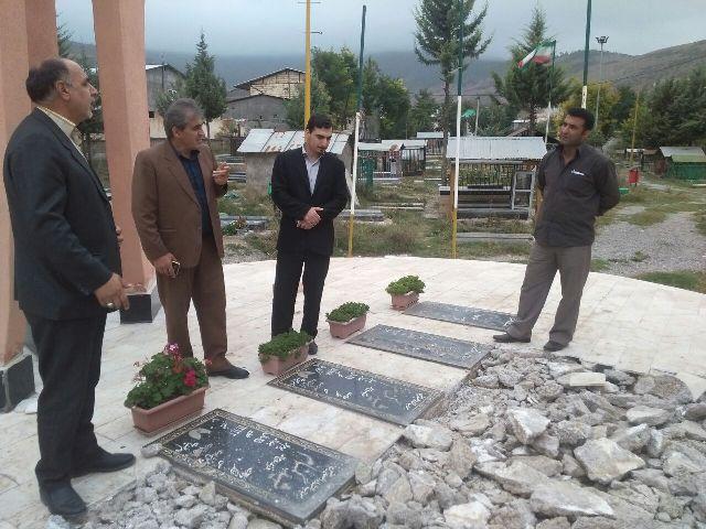 در آستانه هفته دفاع مقدس بهسازی یادمان شهدای گمنام شهر کیاسر آغاز شد