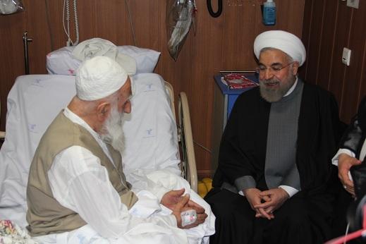 آیت الله نظری در بیمارستان تهران بستری شد+ تصاویر ملاقات از معظم له