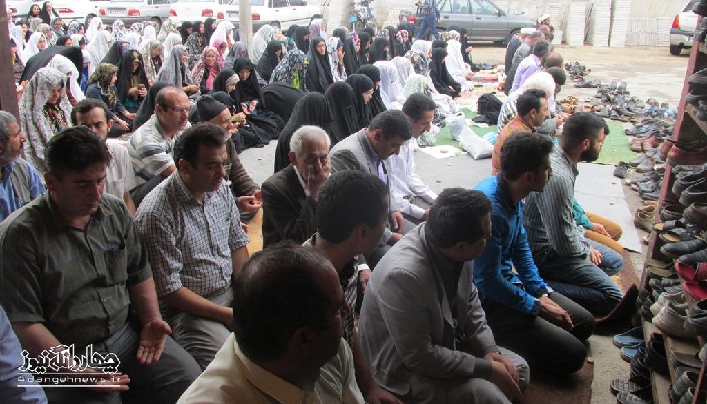 برگزاری نماز عید سعید فطر در کیاسر + تصاویر