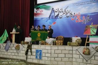 گزارش تصویری اولین سالگرد شهدای غواص و خط شکن مازندران در ساری