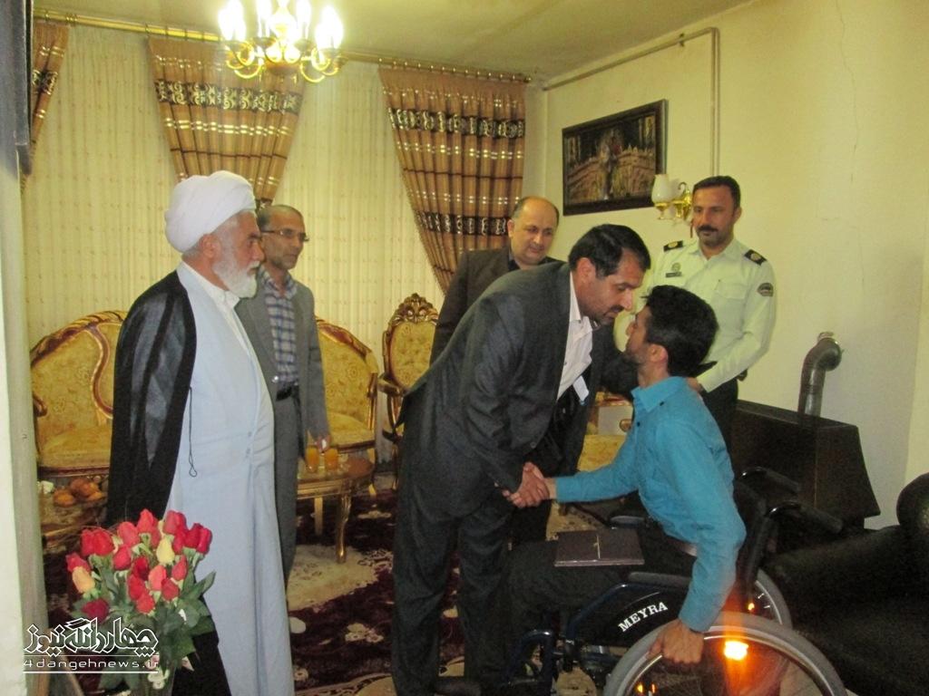 گزارش تصویری دیدار مسئولین بخش چهاردانگه با جانبازان سرافراز