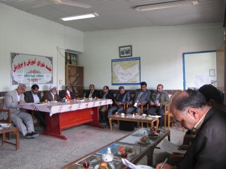 اولین جلسه شورای آموزش و پرورش منطقه چهاردانگه در سال 93