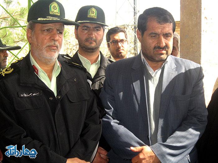 گزارش تصویری مراسم افتتاح پاسگاه انتظامی تلمادره