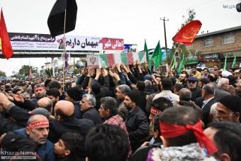 گزارش تصویری تشییع جنازه با شکوه دو شهید گمنام در ساری
