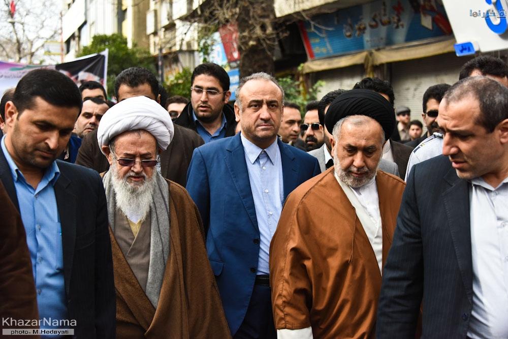 حضور سیاسیون در راهپیمایی ۲۲ بهمن شهرستان ساری