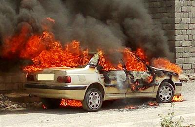 دو سرنشین پژو ۲۰۶ در محور دامغان - کیاسر در آتش سوختند