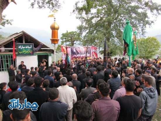 تصاویر عزاداری و سوگواری اهالی روستای سنام
