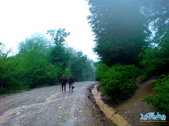 تصاویری از بارش باران در روستای نوکنده
