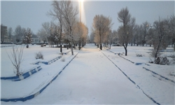 تداوم بارش برف در منطقه چهاردانگه و آمادگی راهداران