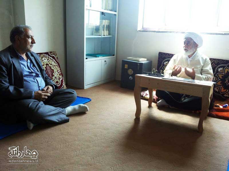 دیدار ریس جدید اداره برق چهاردانگه با امام جمعه