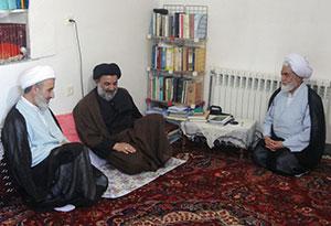 حضور حجت الاسلام میرعمادي در منزل امام جمعه چهاردانگه