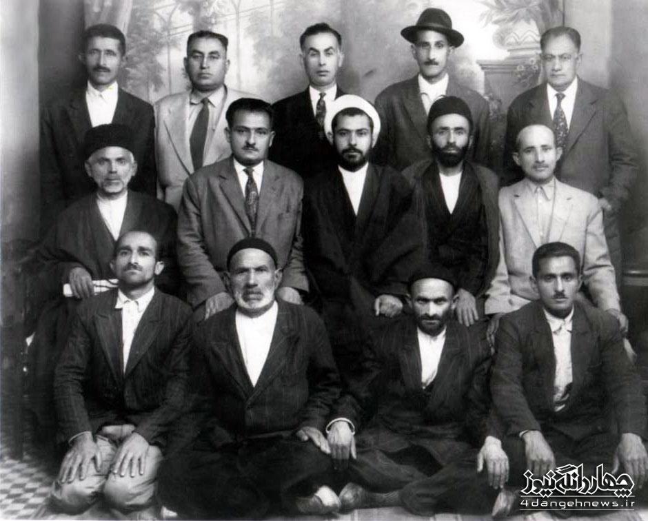 عکس  تاریخی از بزرگان چهاردانگه ( سال 1340 )