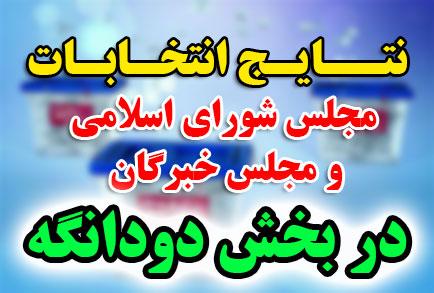 نتایج انتخابات مجلس شورای اسلامی و مجلس خبرگان در بخش دودانگه