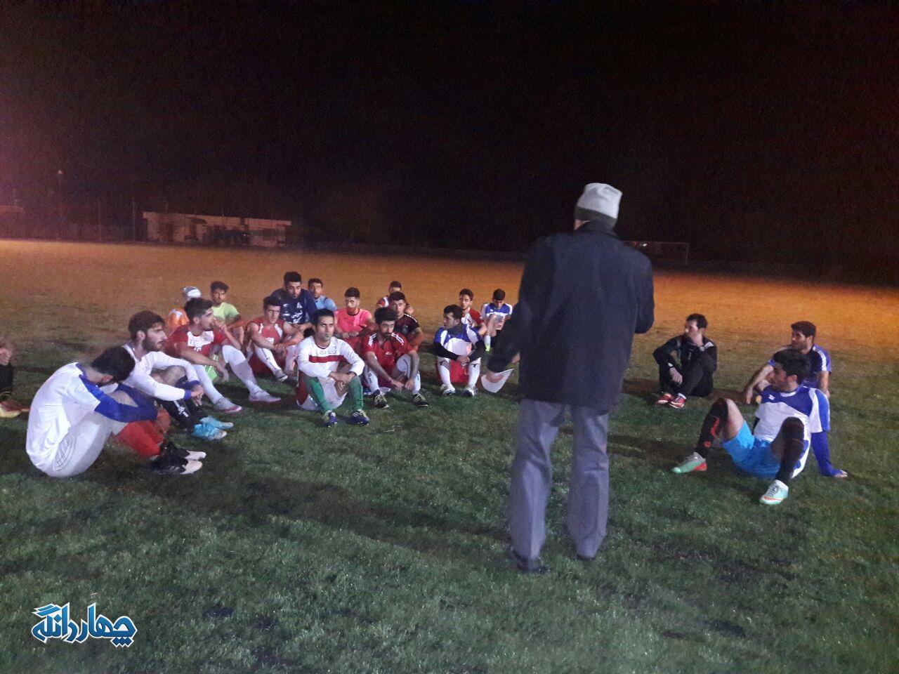 گزارش تصویری تمرین تیم فوتبال چهاردانگه برای شرکت در المپیاد ورزشی ساری