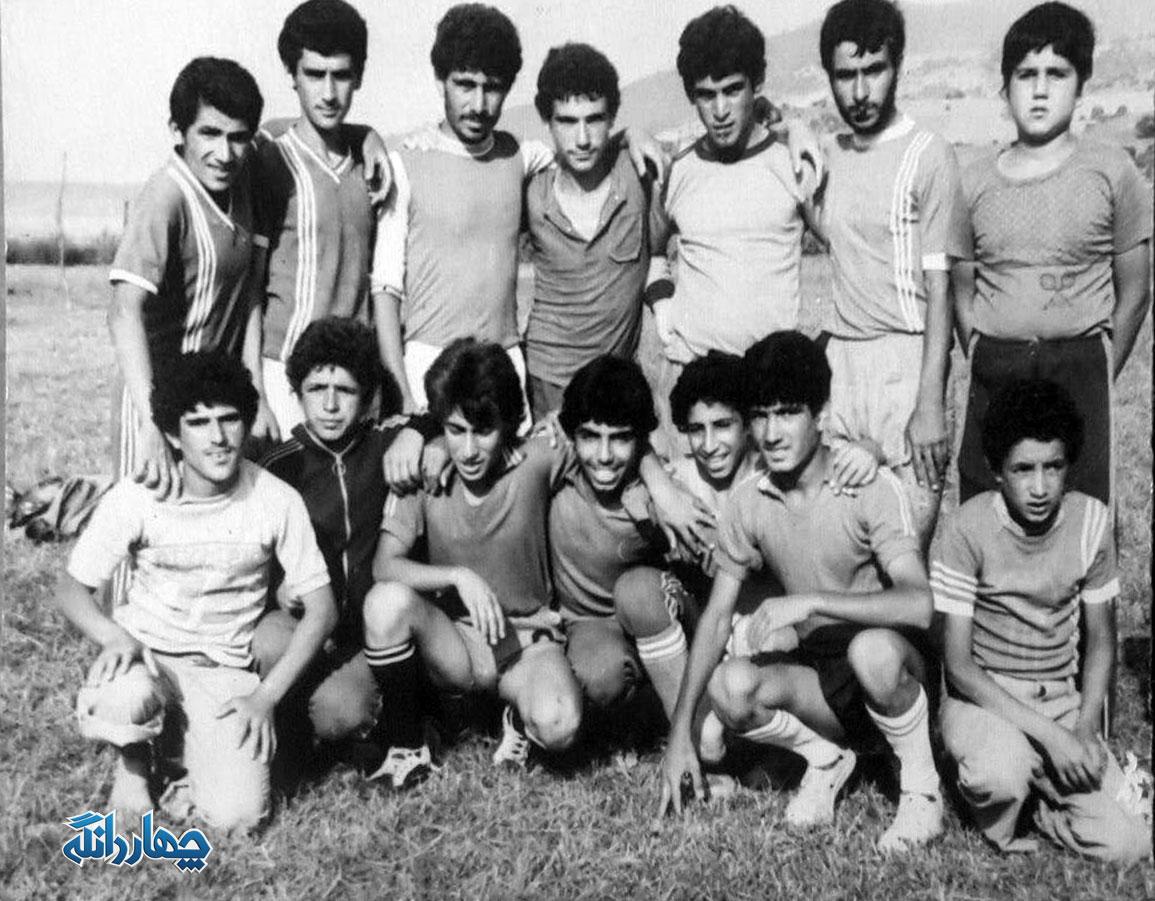 عکس تیم فوتبال کیاسر در سال- ۱۳۵۷