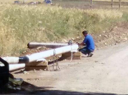 آغاز پروژه لوله گذاری گاز بخش چهادردانگه از روستای لنگر