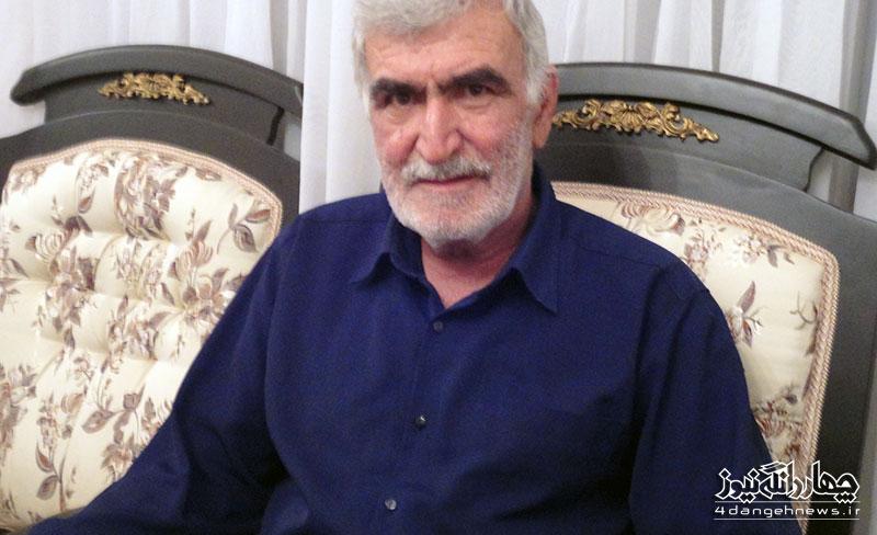 حاج محمد قاسم كلانتري نماد 40 سال خدمت صادقانه به مردم چهاردانگه