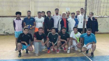 برگزاری مسابقه والیبال ویژه همکاران فرهنگی منطقه چهاردانگه