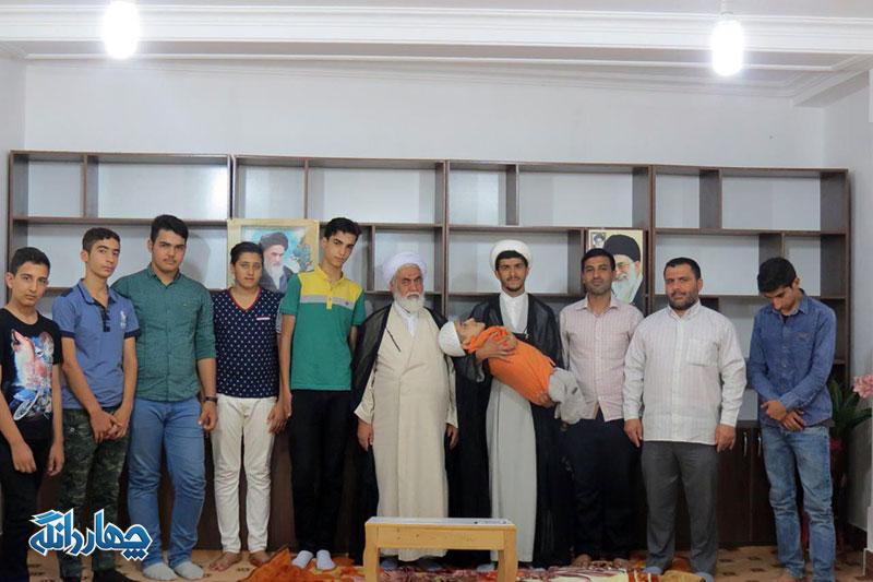 دیدار اعضای هیئت جوانان موسی بن جعفر کیاسر با امام جمعه چهاردانگه